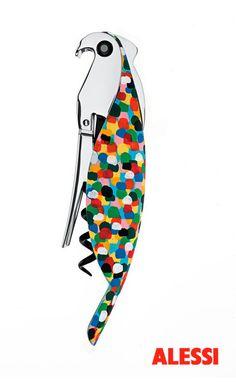 Parrot Proust- sommelier corkscrew/ cavatappi sommelier, Alessandro Mendini, 2005 #alessihappyhour #alessi #design