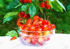 I uploaded new artwork to fineartamerica.com! - 'Cherries On Glass Bowl' - http://fineartamerica.com/featured/cherries-on-glass-bowl-lanjee-chee.html via @fineartamerica