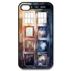 Popular Doctor Who Watercolor Tardis Pattern Plastic Hard Case for iPhone 4/4S – USD $ 3.99