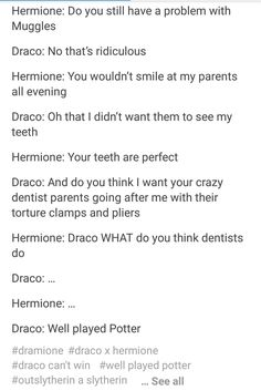 I don't ship it. I just find it funny that Draco would believe a word Harry ever said to him