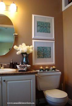 bathroom color scheme and decor by seasideinteriors.ca