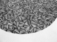 Circle 1 pencil drawing contemporary art от smokov на Etsy