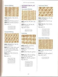 Knitting: rib stitches on Pinterest Brioche, Ribs and Stitches