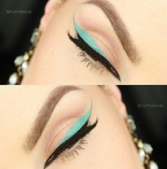 #Blue #black #line #eyebrow