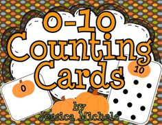 {FREEBIE} 0-10 Counting Cards {pumpkin theme}  Blank cards are for erasers. Could use the dot cards as hole punch cards.