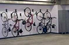 "Commercial Wall Mount Bike Brackets. All Welded, with Security Cable to lock bikes with. Designed for User Friendly - Space Efficient Design. Each Bike can be spaced just 12"" apart. Holds 250lbs, Free bike room layouts. With the only Lifetime Commercial Warranty in the business, Equiptall Bike Racks P(917)837-0032 Equiptall@gmail.com Commercial Wall Mount Bike Racks"