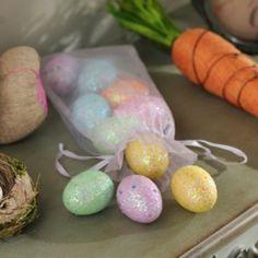 Glittered Easter Eggs, Set of 10 | Kirkland's