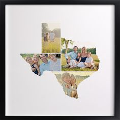 TX Photograph collage Print: Love Location ~ What a beautiful & creative way to display some special photographs while showing your LOVe of your home state! ~ (upload your photographs & choose your size) ♥