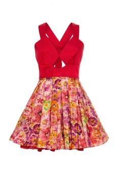 Jones and Jones -- Nicky Dress in Liberty Print Red. $104.65