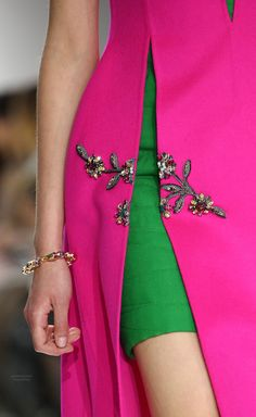 Fall 2014 Christian Dior *** pink and green colour combo <3