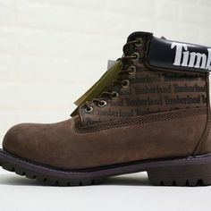 Mens Womens Winter Snow Boots Timberland Premium 6 Inch Leather Boots LOGO  deep coffee black white 10061 10086 10061-10086f b518a379e
