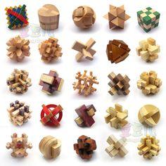 wholesale Wood 25 Kinds Adult Educational Toy Kong Ming Lock Set $23.47