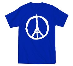Paris Peace Stand In Unity with France - Pray For Paris - Blue T-Shirt