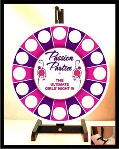 Passion Parties Prize Wheel NEW design I might just get this!! Book Your Passion Party!  Join my Team! or Shop Online 24/7  and use code PINTEREST20 to receive 20% off your entire order! www.facebook.com/amystoys http://amystoybox.yourpassionconsultant.com  920-707-1700
