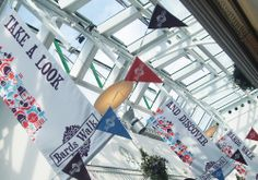 Bards Walk. Hanging banners #brand #branding #brand identity #design #illustration #painting #drawing #graphics #webdesign #brochure #print #pagelayouts #prospectus #leaflets #campaigns #web #logos #digital #education #learning #school #students #happygiraffeltd www.happy-giraffe.com