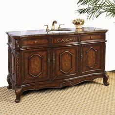 "Legion Furniture Hatherleigh 60"" Single Chest Bathroom Vanity Set"