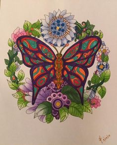 ColorIt Free Coloring Pages Colorist: Gayle Larson‎ #adultcoloring #coloringforadults #adultcoloringpages #freebiefriday #butterfly