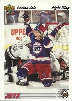 Danton Cole 1991-92 Upper Deck NHL Hockey Card 210 Winnipeg Jets >>> Want to know more, click on the image.
