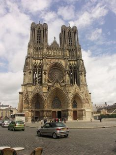 "The kings of France were once crowned in Reims Cathedral. Along with the cathedrals of Chartres and Amiens, Reims is a member of the illustrious triad of ""High Gothic"" or ""Classical"" French cathedrals built in the 13th century."