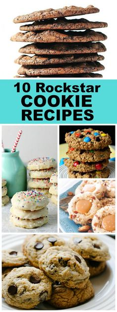 10 Rockstar Favorite Cookie Recipes: Monster Cookies, Pecan Sandies Cookies, Super Soft Chocolate Chip Cookies, Italian Ricotta Cookies and. Favorite Cookie Recipe, Best Cookie Recipes, Best Dessert Recipes, Popular Recipes, Fun Desserts, Favorite Recipes, Easy Recipes, Weeknight Recipes, Italian Desserts
