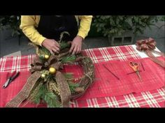 Learn how to make a wreath with our experts in the Christmas Shop at Stauffers in this video below. We guide you with step by step instructions and visuals to help you be successful! www.skh.com