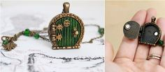 """Bag End Hobbit Hole Door Locket 