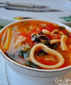 суп томатный с морепродуктами рецепты