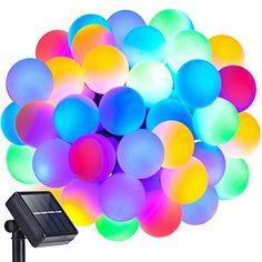 Globe String Lights, DecorNova 13 feet 30 LEDs IP44 Waterproof Outdoor Solar Powered LED Fairy String Lights, 8 Modes, Multi Color |  http://landscapeandlighting.net