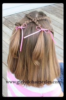 Double braid piggy tails - cute hair idea for girls - I love doing my daughter's hair like this, she looks so cute!