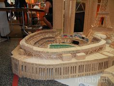 Detailed replicas of New York City buildings constructed from millions of toothpicks. Artist/toothpick engineer Stan Munro -  Our favorite is his recently complete Yankee Stadium, filled with hundreds of thousands of toothpick fans.