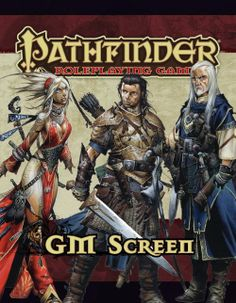 Pathfinder Roleplaying Game GM Screen. This is used so I can keep important information about the game hidden from players and always in my sight when I'm being the GM/storyteller. $15
