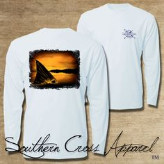Southern Cross Apparel Performance Fishing Shirt - 50 UPF - Moisture Wicking - Stain Resistant - Antimicrobial