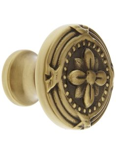 "Large Ribbon & Reed Cabinet Knob - 1 3/4"" Diameter 