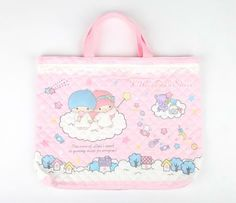 Little Twin Stars Quilted Tote Bag: Candy