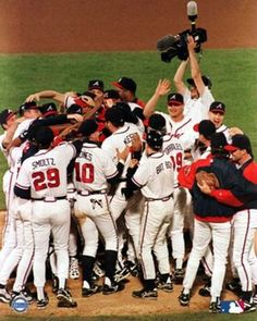 1995 World Series Champion Atlanta Braves! Of all the great Atlanta Braves teams from the 1990's, the 1995 team might not have been the best, but it was the team that won the World Series. Pitching once again beat great hitting, as the Braves rotation of John Smoltz, Tom Glavine, Greg Maddux, and Steve Avery dominated the powerful Cleveland Indians lineup. This team had a balanced lineup and superior pitching, with three Hall of Famers in one World Series rotation—that doesn't happen very…