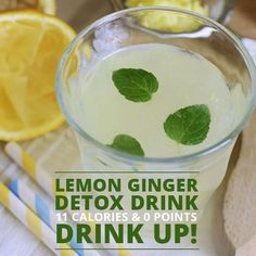 Ginger is a powerful detoxifier that helps to kick start your metabolism and lemons have a diuretic effect which helps toxins to be released from the body. Combine the two and you have a super detox drink. #detox #lowcalorie #weightloss