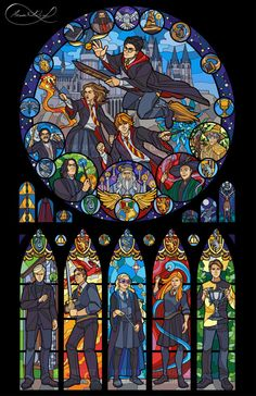 Stained Glass Harry Potter
