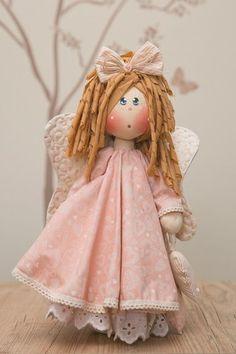 Felt Christmas, Christmas Ornaments, Doll Toys, Altered Art, Needle Felting, Pink Dress, Art Dolls, Doll Clothes, Harajuku