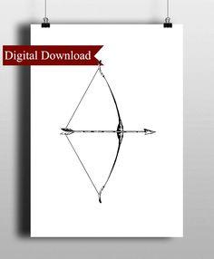 bow and arrow digital print download antique archery arrowhead arrows printable
