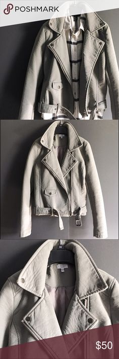 """Tobi Faux Leather Jacket Great for street chic style during those chilly nights. Polyurethane. Line Dry only. Length: 22"""". Has front pockets. Size XS. Great condition. Tobi Jackets & Coats"""