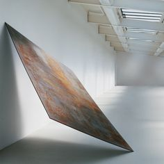 Richard Serra Balanced 1970 Hot-rolled steel 246.4 x 157.5 x 2.5 cm 97 x 62 x 1""