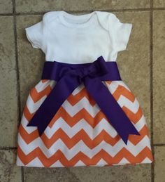 Hey, I found this really awesome Etsy listing at https://www.etsy.com/listing/184393160/monogramed-chevron-clemson-tiger-baby