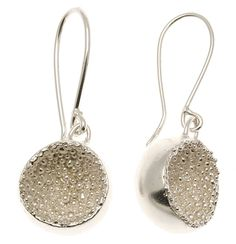 Hanna Bedford - silver granulated cup earrings