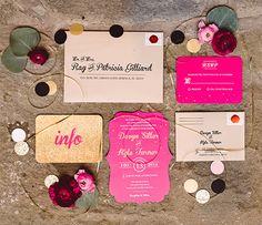 pink and gold wedding invites @weddingchicks