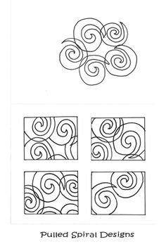 Start With A Grouping Of SPIRALS And Use Tracing Paper To Pull Out Composition WithColoring BookZentangleSpiralsComposition