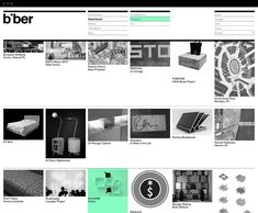 Website for Biber Architects designed by Spin