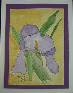 Watercolor card by wildflowerhouse, via Flickr