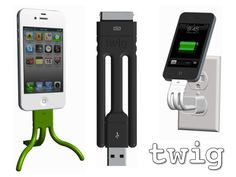 Twig - a $20 bendable charging cable and tripod for iPhone / iPod - on Kickstarter now