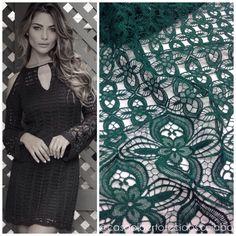 #casaalbertotecidos #casa #alberto #tecidos #cuiaba #inspiracao #guipure #renda #lace #verde