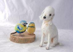 Bedlington Terrier,needle felted